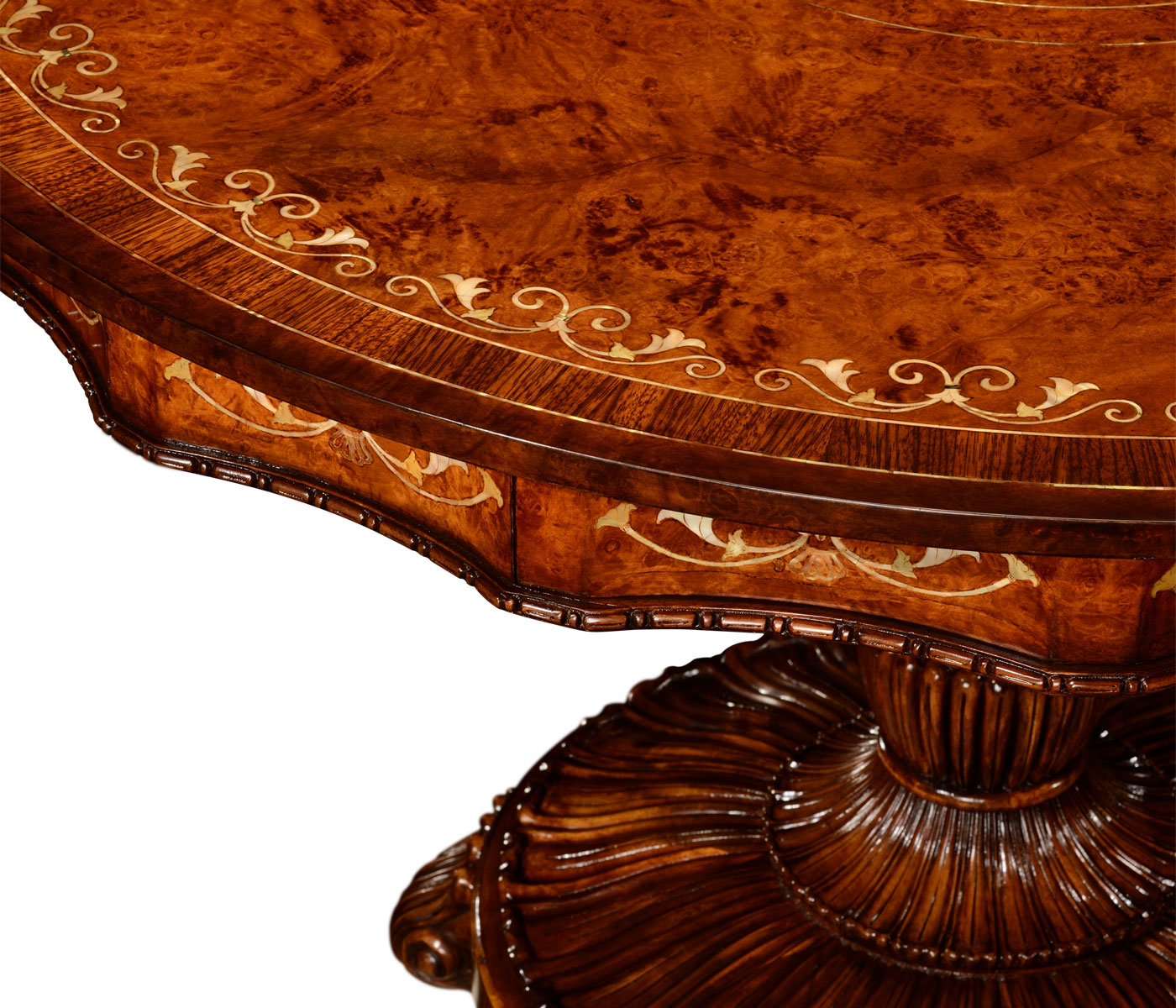 Burl Amp Mother Of Pearl Centre Table