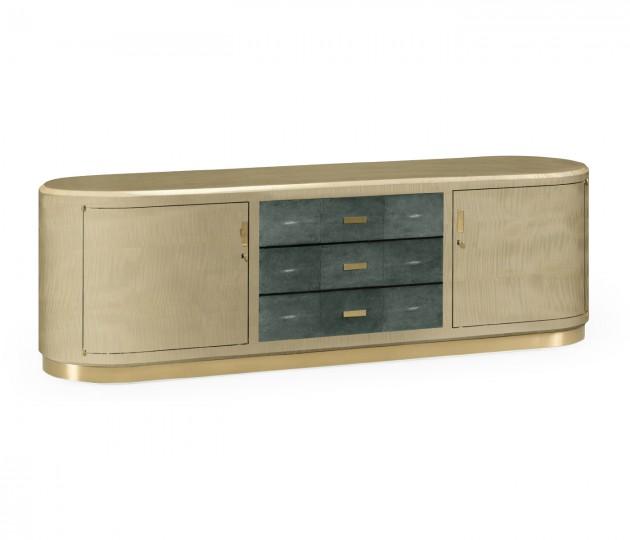 Art Deco High Lustre Champagne TV Entertaiment
