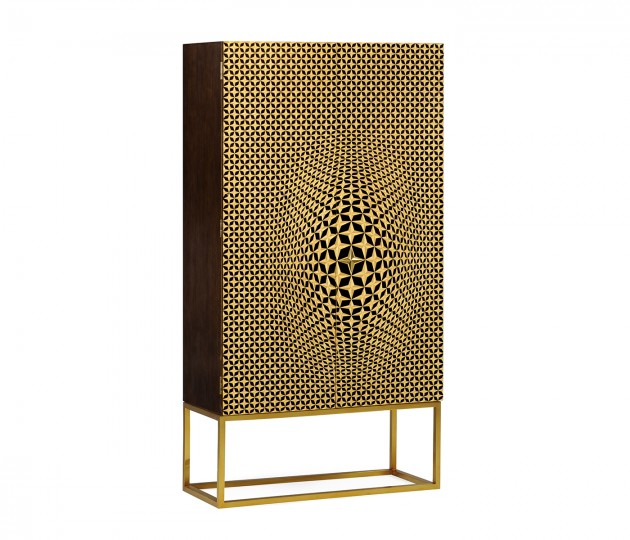 Four-Point Star 3D Geometric Cabinet