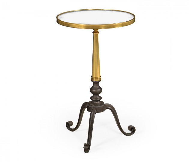 Anitque Brass End Table