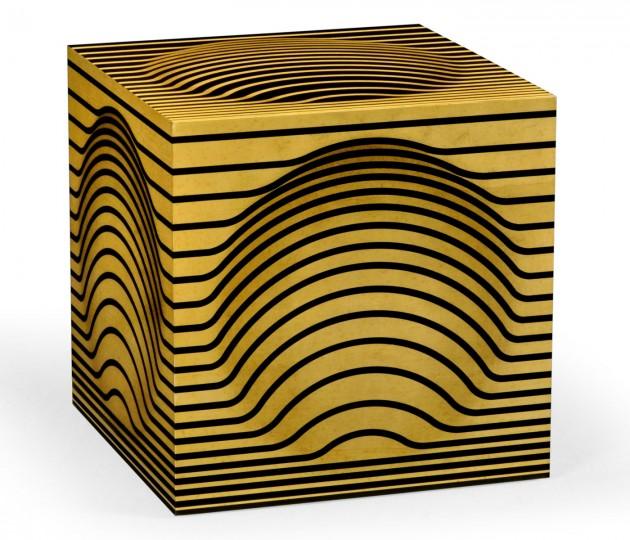 Op Art Bright Satinwood Cube