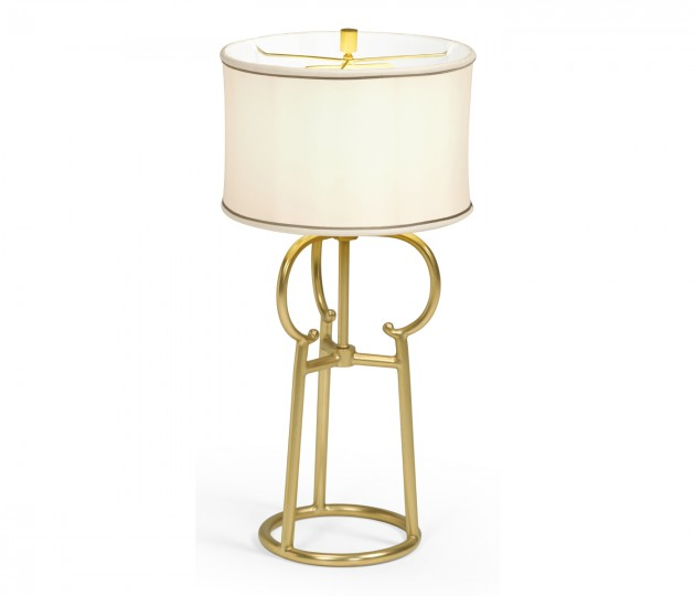 Contemporary Antique Satin Gold Brass Table Lamp