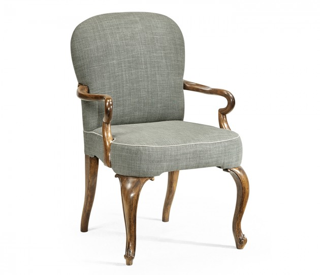 Gunby Grey Fruitwood Dining Arm Chair