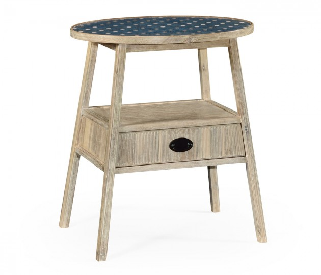 Lintbury Washed Acacia Side Table