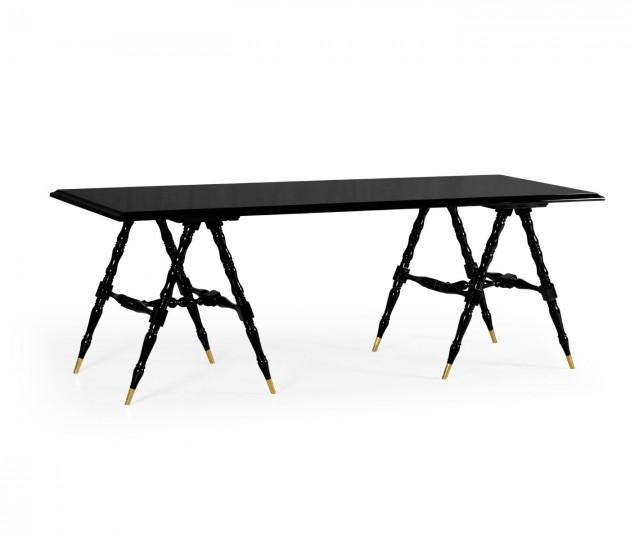Louis Philippe Jet Black Desk