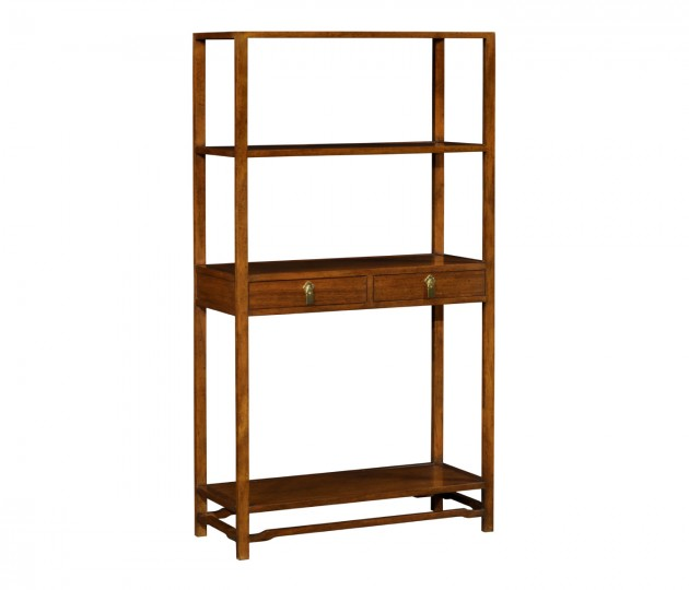 Ming Imperial Mahogany Three-Tiered Etagere with Drawers
