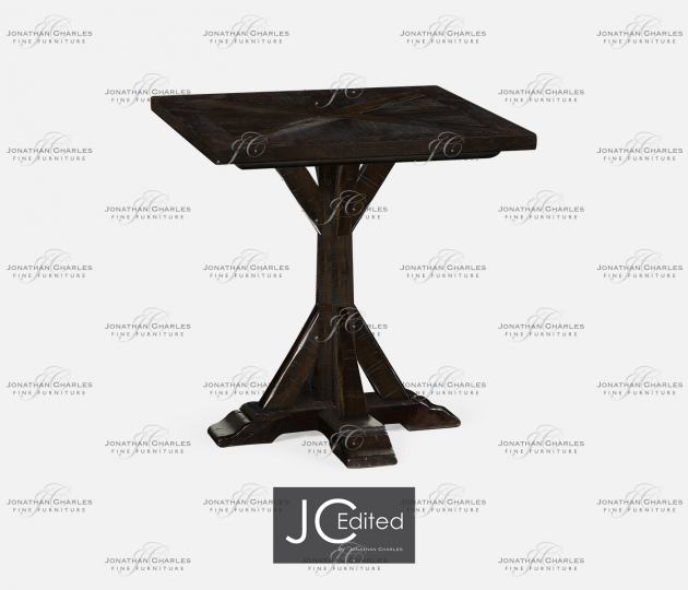 small rushmore Dark Ale Square Side Table