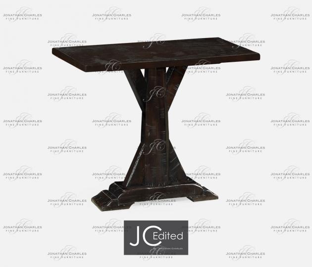 small rushmore Dark Ale Rectangular Side Table