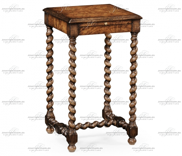 small rushmore Walnut Lamp Table with Twisted Legs