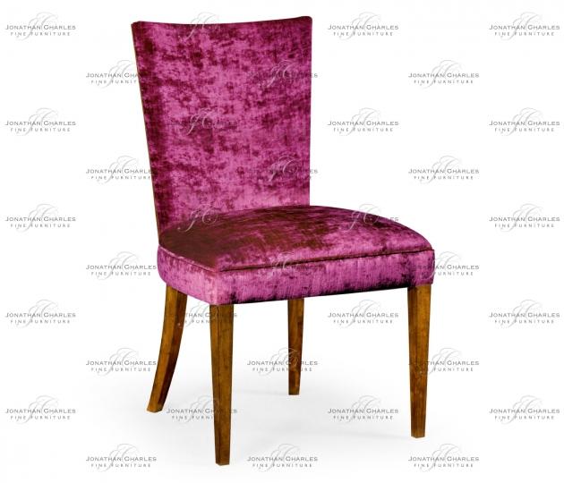 small rushmore Biedermeier Style Walnut Dining Side Chair (Fuchsia)