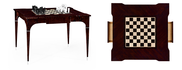 The Backgammon And Chess Table Elevates Game Night To A Posh Level With Its  Exquisite Combination Of Fumed Black Eucalyptus Veneer And Stainless Steel  ...