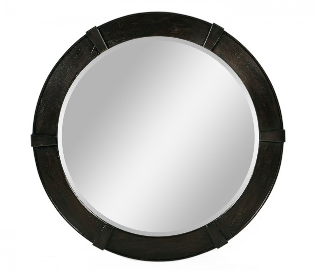 Dark Ale Round Mirror