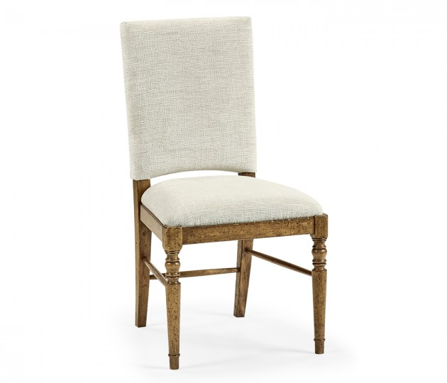 Medium Driftwood Side Chair, Upholstered in Shambala