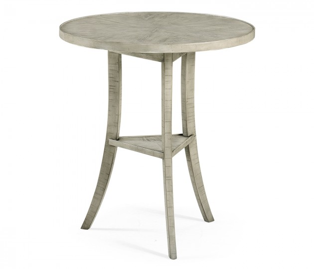 Rustic Grey Round Lamp Table