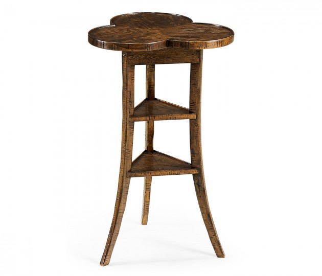 Trefoil Side Table in Country Walnut