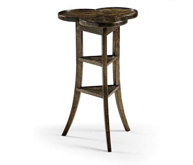 Trefoil Side Table in Dark Driftwood