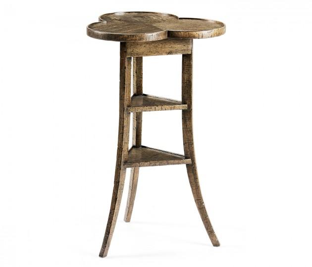 Trefoil Side Table in Medium Driftwood