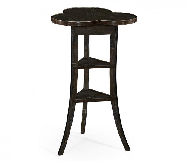 Trefoil Side Table in Dark Ale
