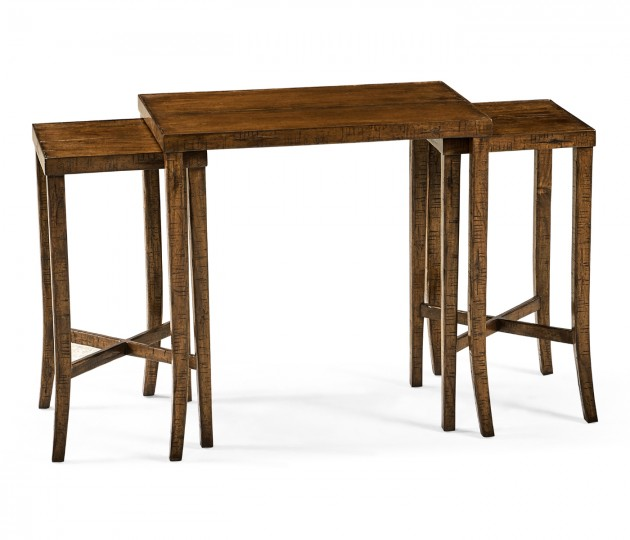 Nesting Cocktail Tables in Country Walnut