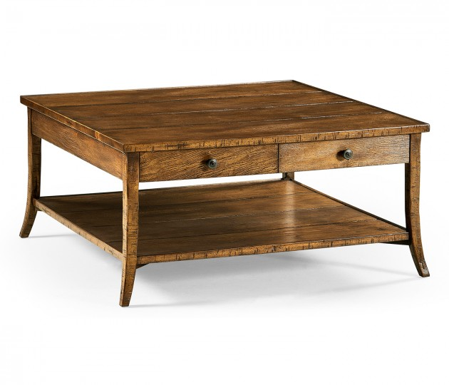 Square Coffee Table in Country Walnut