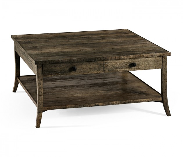 Square Coffee Table in Dark Driftwood