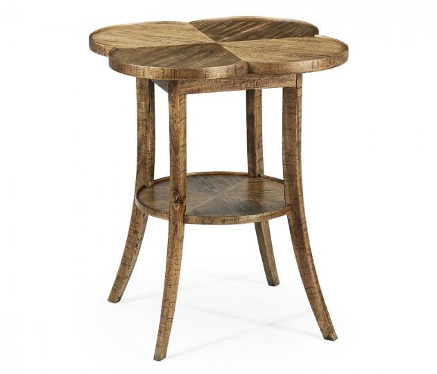 Quatrefoil Lamp Table in Medium Driftwood