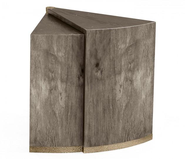 Antique Dark Grey Semicircular Retracting Side Table