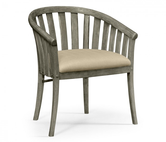 Antique dark grey style tub chair