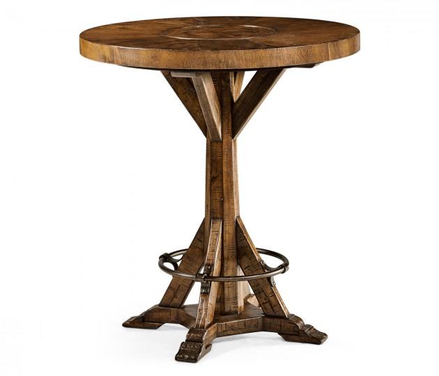 "36"" Country Walnut Bar Table"
