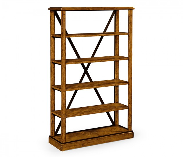 Country Walnut �tag�re or Bookcase