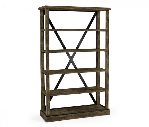 Dark Driftwood Étagère or Bookcase