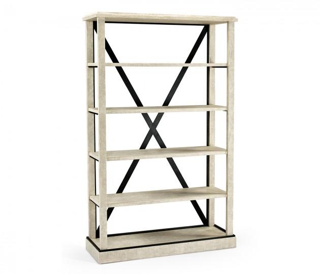 Whitewash Driftwood Étagère or Bookcase