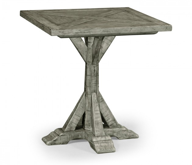 Antique Dark Grey Square Side Table