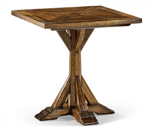 Country Walnut Square Side Table