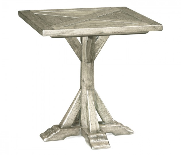 Rustic Grey Square Side Table