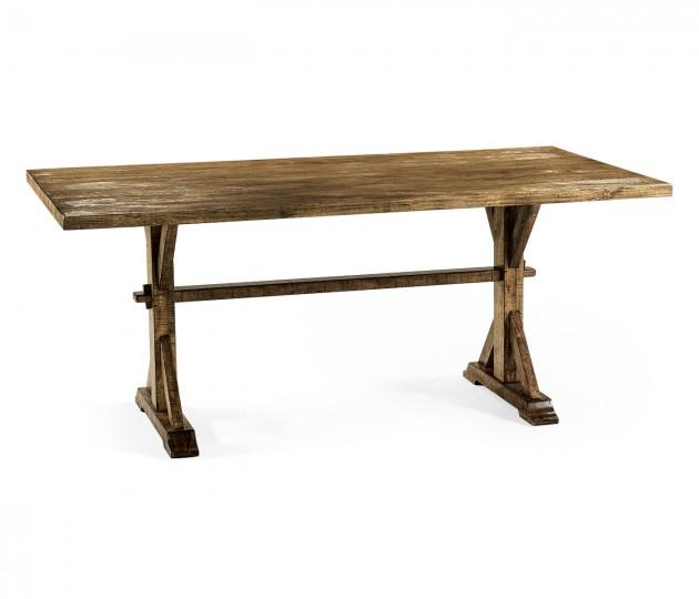 "72"" Solid Medium Driftwood Dining Table"