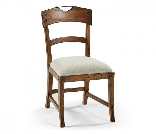 Casual Planked Dining Side Chair