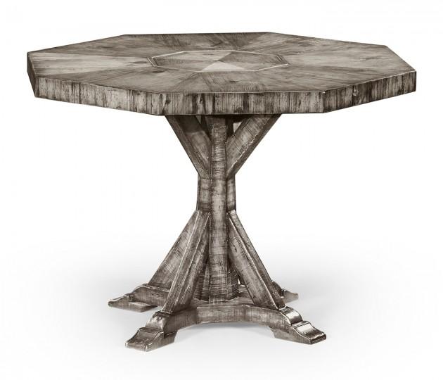 Octagonal Antique Dark Grey Centre Table