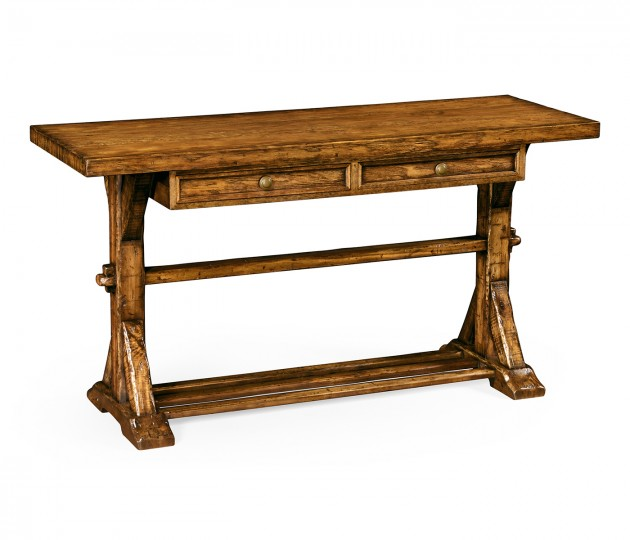 Country Walnut Serving Table
