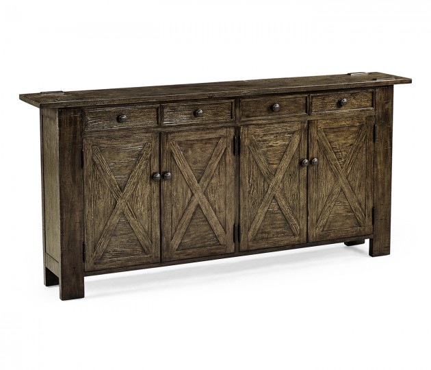 Dark Driftwood Narrow Sideboard
