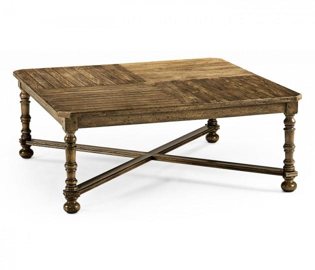 Medium Driftwood Large Square Parquet Coffee Table