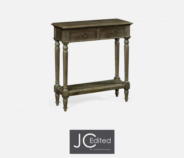 Small Dark Grey Chestnut Narrow Console