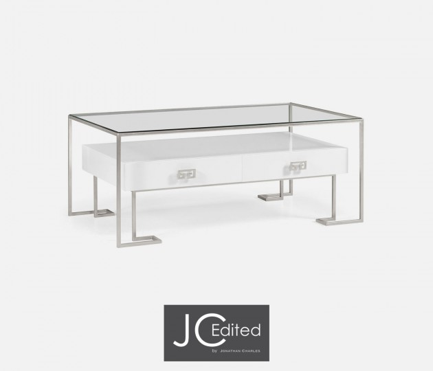 Silver Iron Coffee Table in Biancaneve