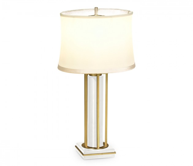 Gilded Iron Table Lamp in Biancaneve