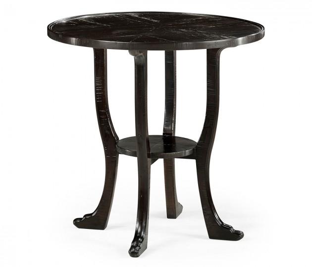 Dark Ale Round Lamp Table