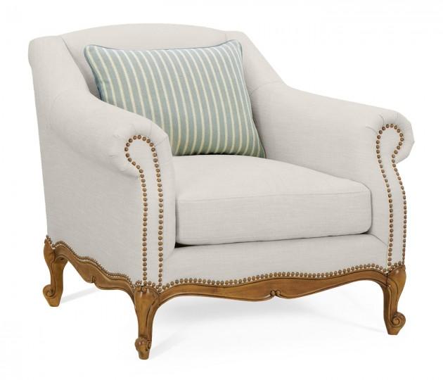 Lawson Style Grey Fruitwood Chair