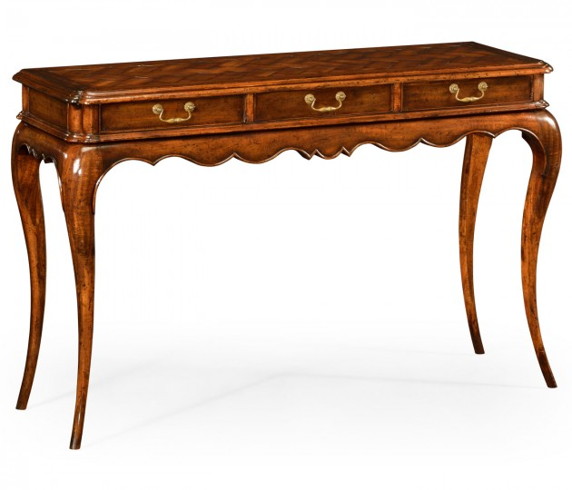 French style walnut console