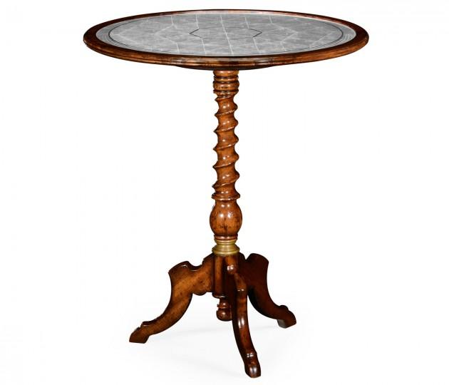 �glomis� & Walnut Round Wine Table