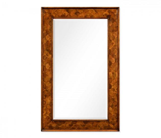 Walnut & Oyster �Fish Scale� Rectangular Mirror
