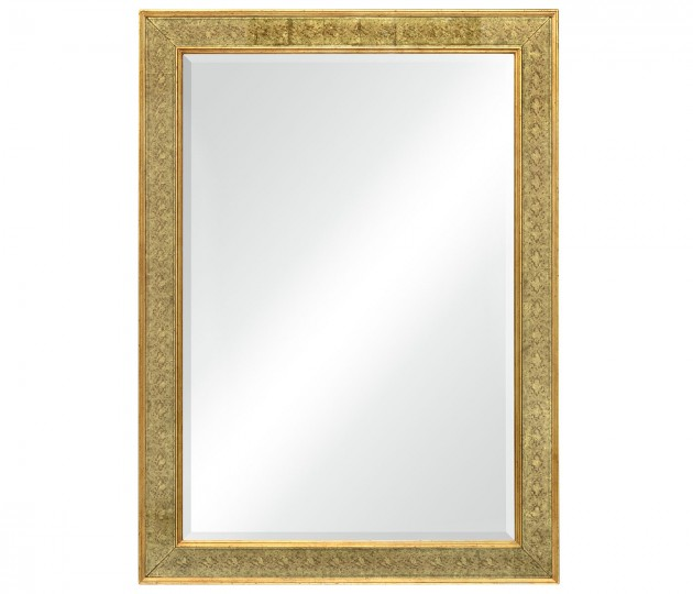 Rectangular Mirror with �glomis� Gilt Borders